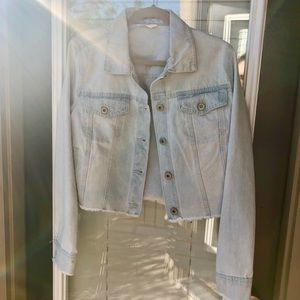 Light Denim Cropped Jacket